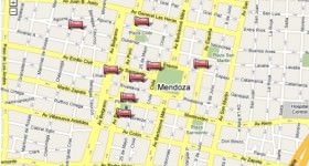 Mendoza Hotel Map thumb
