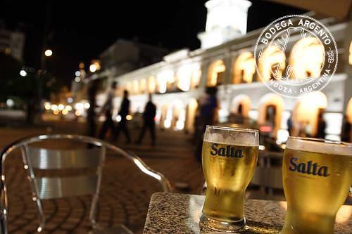 Salta Cerveza Beer and Cabildo Plaza 9 de Julio Argentina