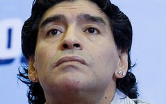 Diego Maradona Argentina Football World Cup 2010