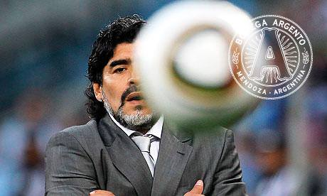 Maradona Argentina Germany World Cup 2010 Football