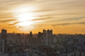 Sunset over Buenos Aires Apartment by blmurch on Flickr