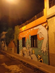 Buenos Aires Street Art - giant hand points ominously