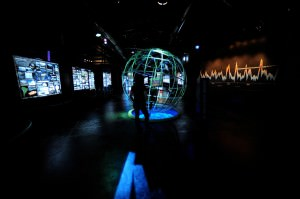 An exhibition inside the Glaciarium
