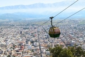 The cable car over Salta - Photo by Anna Longmore