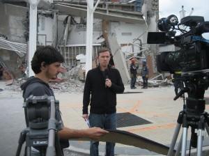 Reporter in Argentina - Chilean Quake