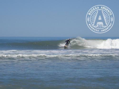 Surfing near Quequen