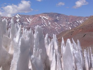 Snow formations on Aconcagua