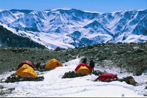 Camp 1 on the descent from Aconcagua