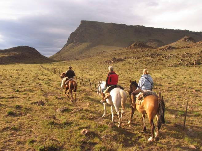 Horseback riding through Patagonian landscapes