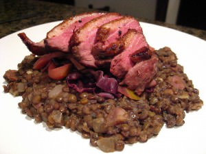 Duck with Puy lentils