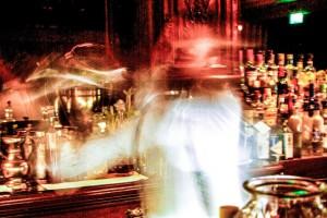 Cocktail shaking at Frank's Bar