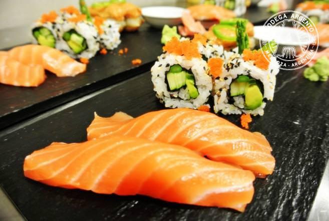 Sushi at Mun in Barrel Room of Casarena