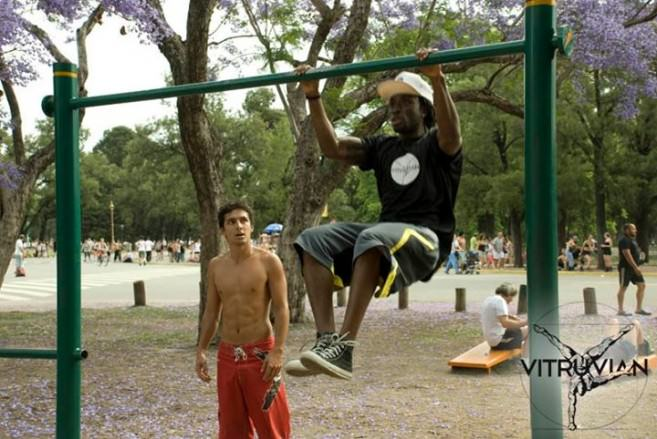 Pull ups in the park photo courtesy of Vitruvian