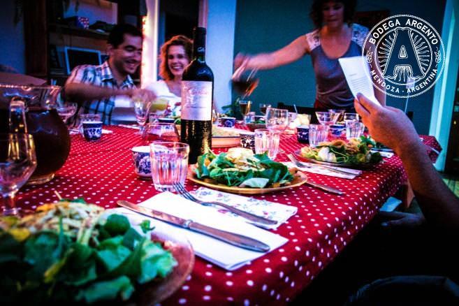 Set table at Jueves a la Mesa; photo by Allie Lazar