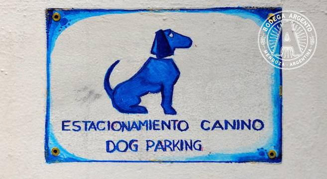Bilingual dog parking at La Dorita