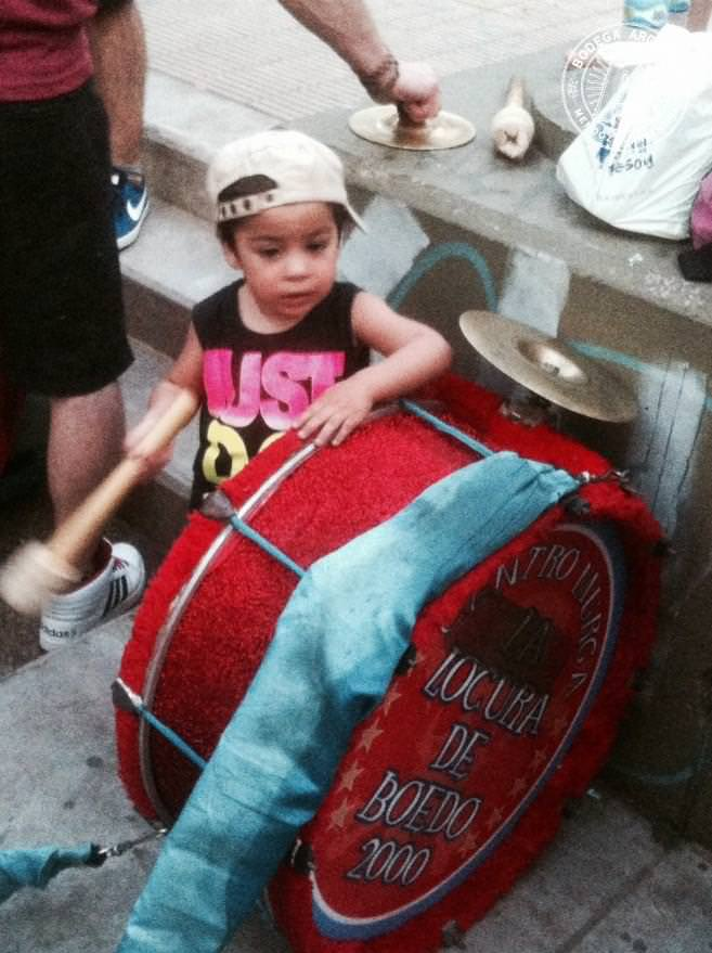 Never to young to join in the murga Photo Sonja Dcruze
