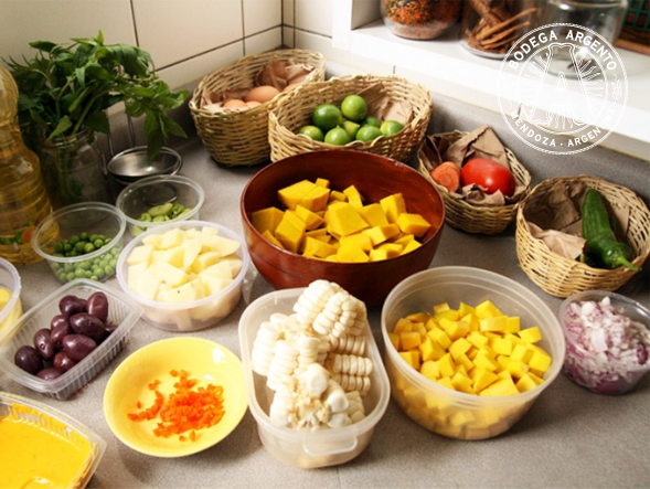 Locro ingredients