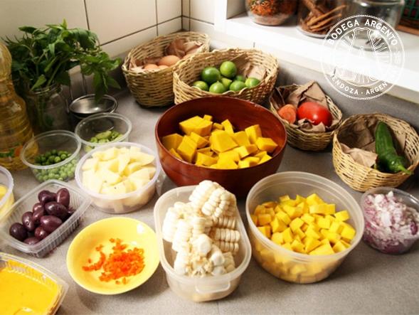 Locro ingredients